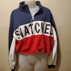 Snatched crop sweater